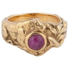 Art Nouveau Ring, circa 1900