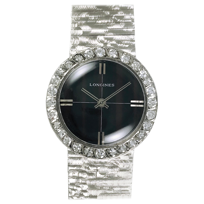 Longines Diamond Gold Watch, circa 1955s