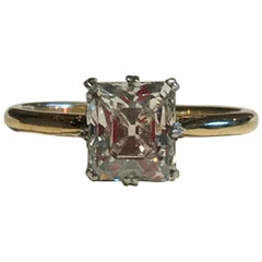 Emerald Cut 1.75 Carat Diamond Engagement Ring