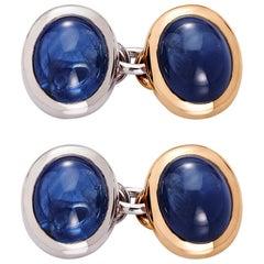 Cufflinks with 19.80 Carat Sapphires