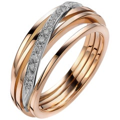 Diamond and Rose Gold Van der Veken Varens Ring