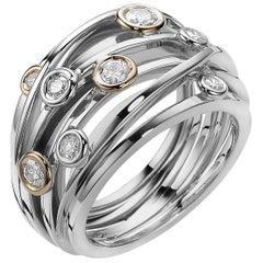 Diamond and White Gold Van der Veken Varens Ring