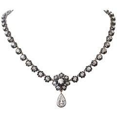 Victorian Diamond Gold Silver Necklace