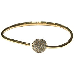 Crivelli Pave Disc Bangle with Diamonds in 18 Carat P/G