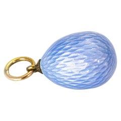 Edwardian Blue Enamel Egg Pendant