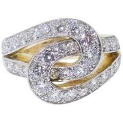 """Cartier """"Infinity"""" Diamond Ring, circa 1950"""
