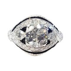 Art Deco Platinum Engagement Ring