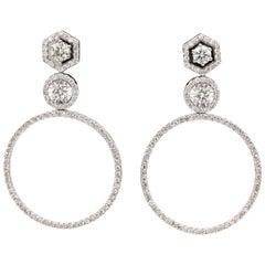 Diamond Drop Earrings 2.52 Carat
