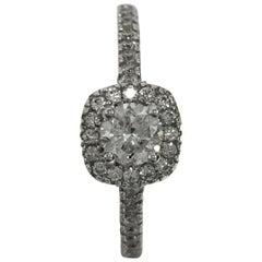 Diamond Engagement Halo Ring Ring