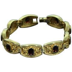 Vintage SeidenGang Retro Bracelet set with 9 Carat of Garnets