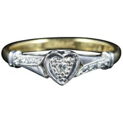 Antique Edwardian Heart Diamond Engagement Ring, circa 1915