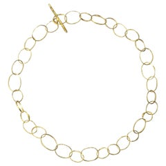Handmade 18 Karat Gold Organic Texture Chain Necklace by Disa Allsopp