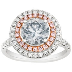 Fancy Very Light Grey Diamond Ring, 1.73 Carat