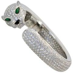 Cartier Diamond Panthere Bracelet 15.74 Carat