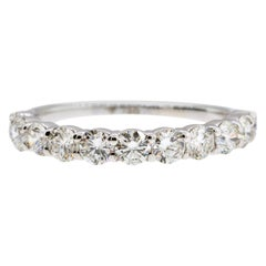 18K White Gold & 1.15 cts Colorless Diamonds 3mm Half Pave Stack by Alessa