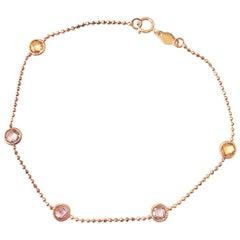18 Karat Yellow Gold Chain Bracelet