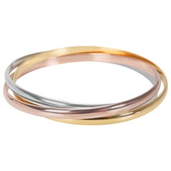 Cartier Trinity Bangle in 18 Karat Tri Colored Gold