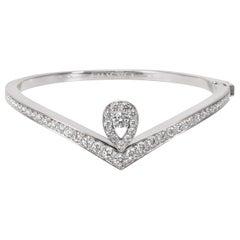 Chaumet Diamond Bracelet in 18 Karat White Gold 1.70 Carat