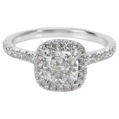 James Allen GIA Certified Diamond Ring in 14 Karat Gold E VS2 1.34 Carat