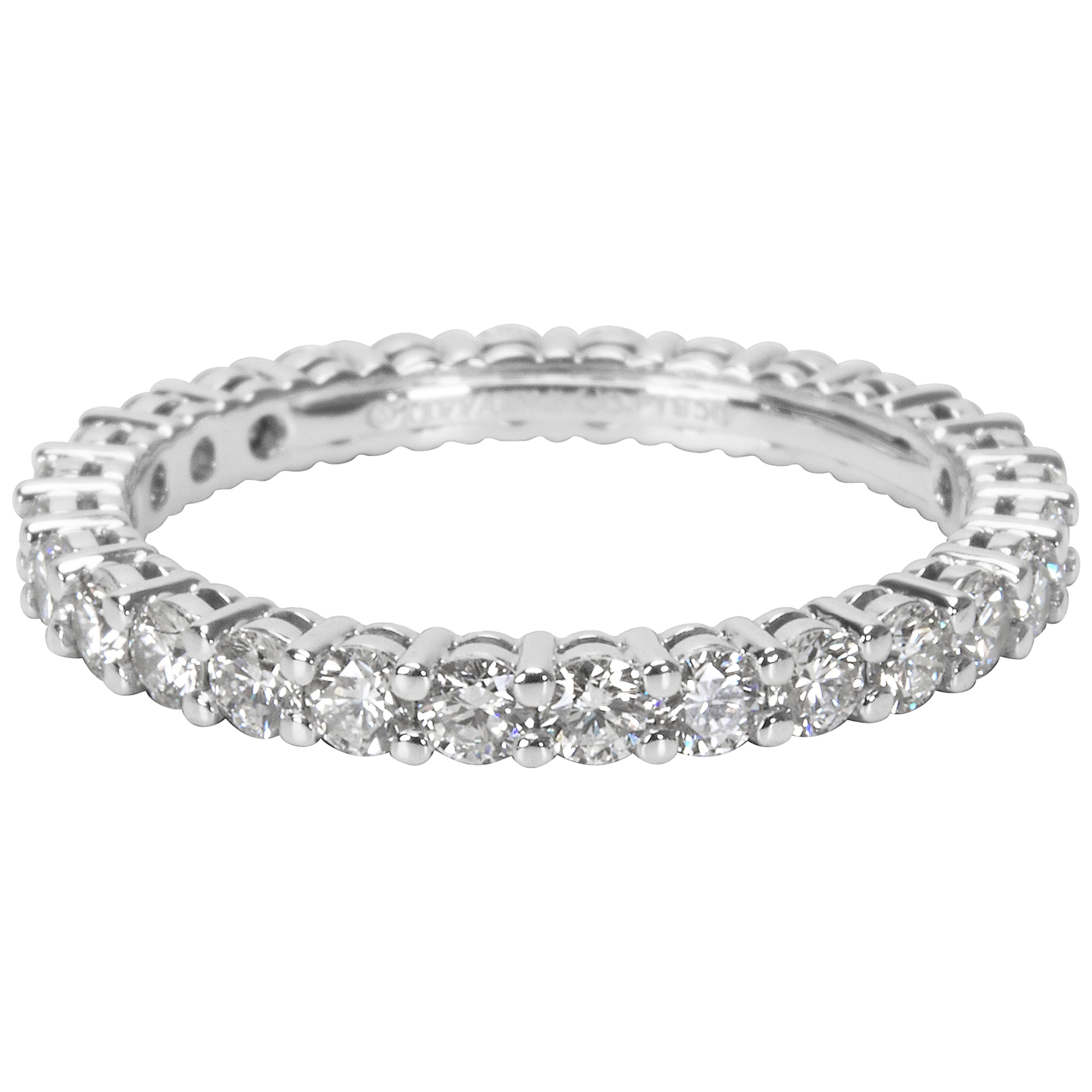 988ae0ebaf7 Tiffany and Co. Embrace Diamond Eternity Band in Platinum 1.00 Carat For  Sale at 1stdibs