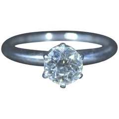 Antique Tiffany & Co. Solitaire Engagement Ring with 0.85 Carat Diamond