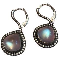 Unique Royal Blue Moonstone Earrings