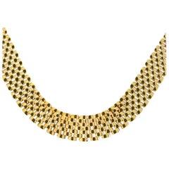 Classic Panther Collar 14 Karat Yellow Gold Necklace 62 Grams
