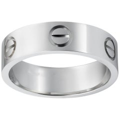 Cartier Platinum Love Ring Size 50, Retail $3650.00 !