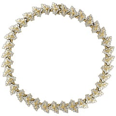 38 Carat Diamond Necklace and Bracelet 180 Grams 14 Karat Gold Bridal Suite