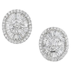 Estate Gold and Diamond Earrings