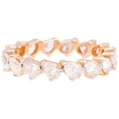 18K Rose Gold & 2.23 cts Colorless Diamonds Eternity Stack by Alessa Jewelry
