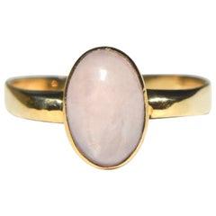 Vintage Moonstone 8 Karat gold Art Deco 2 Carat Bezel Cabochon Ring