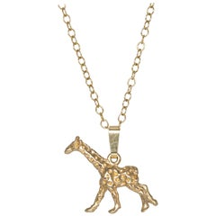 Giraffe Pendant in Solid Gold