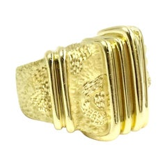 Estate Henry Dunay Textured and Polished Wide Ring