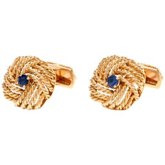 VCA Vintage Van Cleef & Aprels French Gold Cuff Links