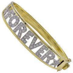 Gold and Diamond Forever Bracelet