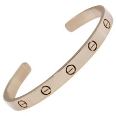Cartier 18 Karat Rose Gold Love Cuff Bracelet