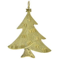 Gold 12 Days of Christmas Ornament