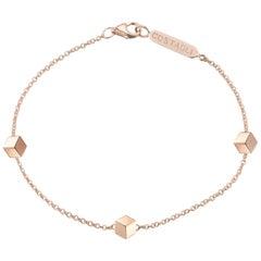 18 Karat Rose Gold Handmade Natalie Station Bracelet