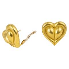 Kieselstein-Cord Heart Motif Earrings