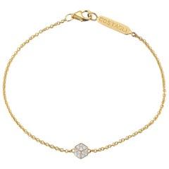 18 Karat Yellow Gold and Diamond Natalie Bracelet