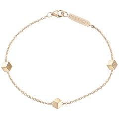 18 Karat Yellow Gold Brillante Natalie Station Bracelet