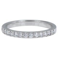 Authentic Tiffany & Co. Novo Platinum Diamond Wedding Band Ring 0.36 Carat