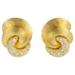 Henry Dunay Sabi Collection Diamond Earrings