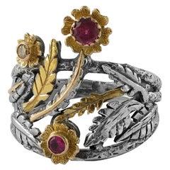 Emma Chapman Pink Tourmaline Diamond Ring