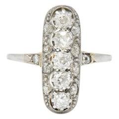 Edwardian 0.90 Carat Diamond Platinum-Topped 14 Karat Gold Ring