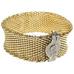 Miss Mimi 14 Karat Gold 2.00 Carat Diamonds Clasp Bangle