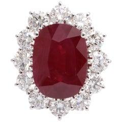 Damiani Burma Ruby and Diamond Ring GIA Certified