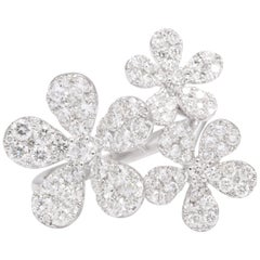 Multi Flower Diamond Ring