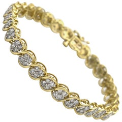 Yellow Gold Women S Diamond Tennis Bracelet